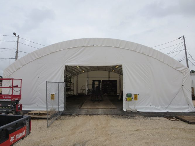Temporary Warehouse With Gate